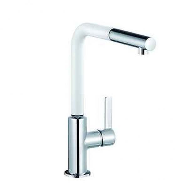 Küchenarmatur Spültisch Armatur Brause KLUDI L-INE S 428519375 chrom/weiß KB HD 134