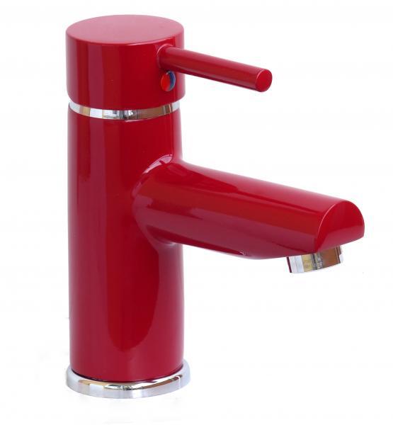 Wagner Waschtischarmatur Waschbecken Wasserhahn Bad Armatur Rot WT 107