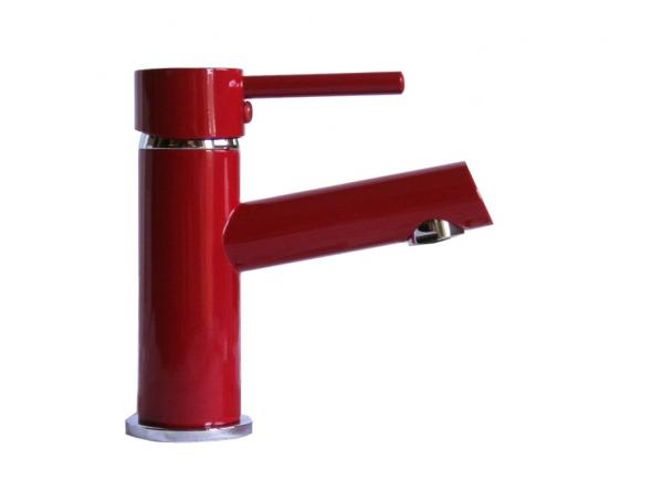 Wagner Waschtischarmatur Waschbecken Wasserhahn Bad Armatur Rot WT 108