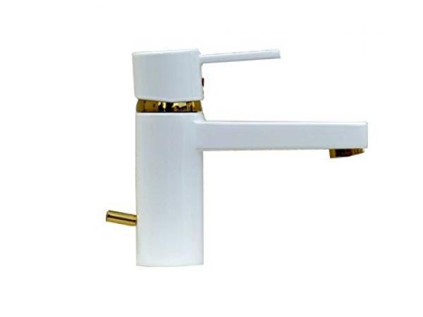 Kludi Waschtischarmatur Waschbecken Bad Armatur weiß-gold ZENTA WT 191