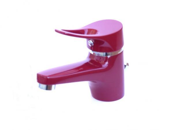 Wagner Waschtischarmatur Waschbecken Wasserhahn Bad Armatur Rot WT 2