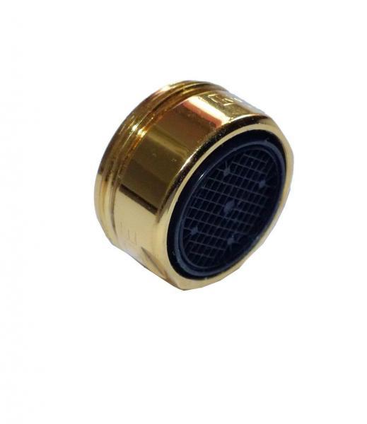 Goldfarbige Mischdüse M 24 Außengewinde Hochdruck